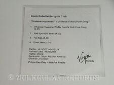 Black Rebel Motorcycle Club Whatever Happened To My Rock'n'roll PROMO CD Single!