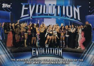 WWE Topps 2019 Women's Division Evolution 2018 PPV Moments Insert WE-10
