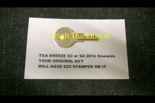 TGA  BREEZE S3/S4 2014 ONWARDS 025 MOBILITY SCOOTER REPLACMENT SPARE KEY
