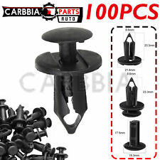 100pc Clips For Hole Plastic Rivets Retainer Fender Bumper Push Pin Fastener 8mm Fits Plymouth Breeze
