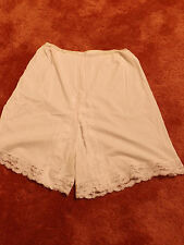 Vtg 50s 60s WONDERMAID Snow White HALF SLIP PETTY PANTS L Panties Lace Petticoat