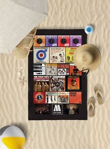 "58""x39"" Northern soul flyer design microfibre beach towel sun bathing towel only"