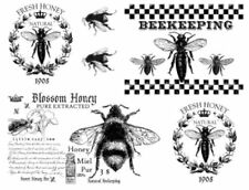 Vintage Image French Honey Bees Furniture Transfers Waterslide Decals Mis644