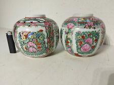 2 Porzellan Vasen mit Bodenmarke, Asiatika, Sammler, China? alt, Fam. Rose