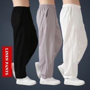 Linen Kung Fu Tai Chi Pants Martial Arts Trousers Bruce Lee Wing Chun Uniform