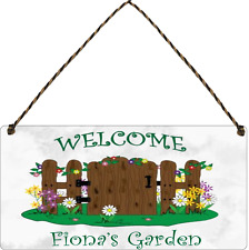 Personalised Garden Signs Plaques Any Name Summer House Garden Shed plaque sign