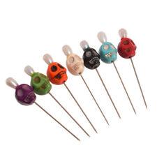 Gothic 7pcs Needles Voodoo Bead Skull Sharp Pins Evil Curse Vent Toys Creepy
