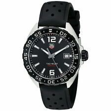 Tag Heuer Men's WAZ1110.FT8023 'Formula One' Black Rubber Watch