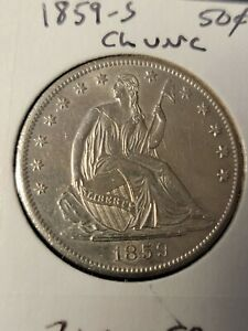 1859-S Liberty Seated Half Dollar Ch Uncirculated