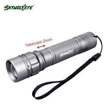 SKYWOLFEYE 3500 Lumens CREE LED Flashlight 3 Modes Zoom 18650 Battery Torch GA