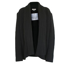 IVAN GRUNDAHL $545 oversize chunky black knit open-front cardigan sweater L NEW