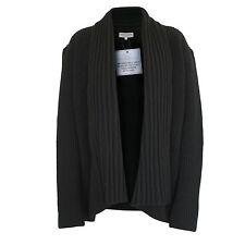 IVAN GRUNDAHL $545 oversize chunky black knit open-front cardigan sweater L NEW