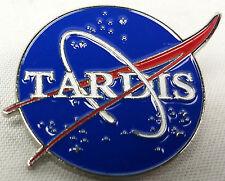 The TARDIS and NASA - Doctor Who TV Series Enamel Pin