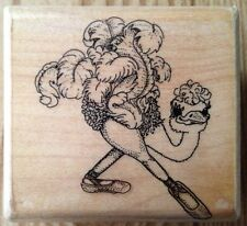Mostly Animals Pre-Madonna 445-S6 Ostrich Rubber Stamp