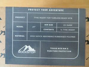 """ROCKSTOP Tyre Insert for MTB's - Protect Your Rims from Dings! 29"""""""