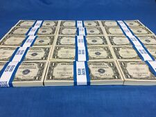 UNCIRCULATED SILVER CERTIFICATES OLD $1 ONE DOLLAR BILLS PAPER MONEY US CURRENCY