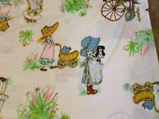 Vintage Holly Hobbie Twin Bed Fitted & Flat Sheet Set