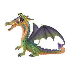 """Bullyland 75596 Fantasía """"Dragón con 2 Cabezas"""" verde plástico nuevo! #"""