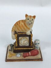 Peter Fagan Colour Box Cats Cat on Mantle Clock