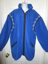 BOB MACKIE Wearable Art Plus ROYAL BLUE Studded EMBROIDERED JACKET Coat Size 2X