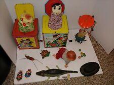 Vintage Tin Toys,Lehmann,Jack In The Box,Crawling Baby,Windup Minstrel,Alligator