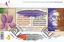 Finland 2002 Used Sheet - Elias Lonnrot-  Lönnrot - Kalevala - First Day Cancel