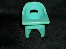 Fisher Price Little People Vintage Blue Nursery Baby High Chair