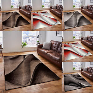 BROWN BLACK MODERN DESIGN RUG SOFT LARGE LIVING ROOM FLOOR BEDROOM CARPET RUGS