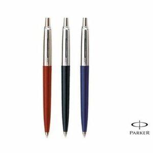 Parker Jotter Standard Ball Point Pen Blue Black Red Body Chrome Trim New Fine