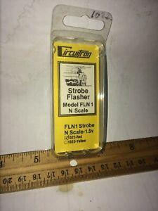 Circuitron 1023 FLN1- STROBE FLASHER, YELLOW New in Box Free USA Shipping
