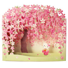 Hello Kitty w/ Cherry Blossom Pop Up Decorative Greeting Card