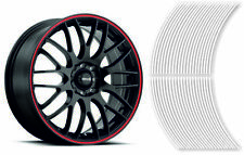 Wheel Striping Stripes Stickers Decals for Motorbike or Car *3mm* White