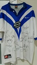 *RARE* NIKE SUPER LEAGUE 1997 AUTHENTIC Canterbury Bulldogs Jersey ALL SIGNED XL