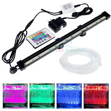 Remote Control Rc 16 Color Air Bubble Light Underwater Submersible Aquarium Tank