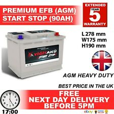 096 100 START STOP AGM 90AH Heavy Duty 12V Car Battery More power than AGM / EFB