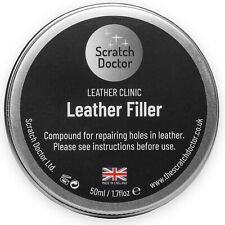 Leather Repair Filler Compound VARIOUS Colours. Restore Cracks, Holes, Rips, etc