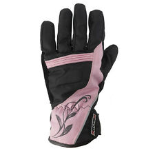 Rayven Diamond Lady Leather Motorcycle Motorbike Gloves Waterproof Thermal Pink