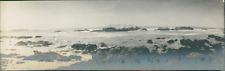 USA, Monterey (California), Seaside landscape  Vintage silver print. Panoramic V