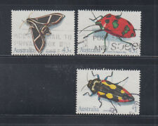 Australia 1991 three used insects  Sc1211-2, 1214 fine used