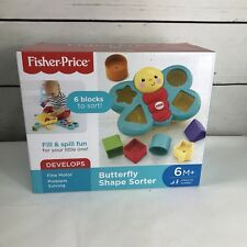 NEW Fisher-Price Butterfly Shape Sorter developmental Toy Infant to Toddler