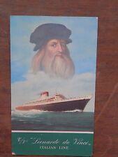 Vecchia foto cartolina d epoca di Italian Line Leonardo da Vinci nave da per di
