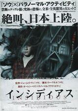 Insidious 2010 James Wan Patrick Wilson Japanese Chirashi Movie Flyer B5