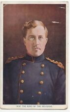 Tuck 'War Notabilities'  King Of The Belgians PPC To Miss Porter, St Helier 1915