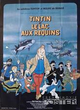 TINTIN ET LE LAC AUX REQUINS / HERGE / SHARKS - ORIGINAL LARGE MOVIE POSTER