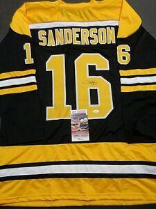 Derek Sanderson Boston Bruins Autographed Signed Black Style Jersey XL coa-JSA+