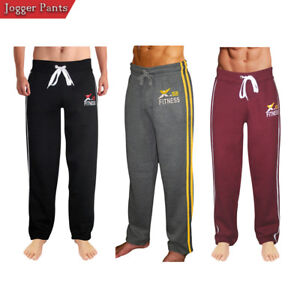 X-2 Mens Active Fleece Joggers Sweatpants Gym Tracksuit Running Athletic Pants