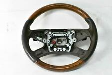 +SW78 W212 MERCEDES 10-13 E CLASS WOOD GRAIN STEERING WHEEL BROWN LEATHER