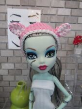 MONSTER HIGH HANDMADE CROCHET ANIMAL CAT PINK HAT FASHION STYLE CLOTHING