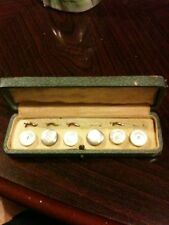 Lovely Antique Set Of Collar Studs In Lovely Box