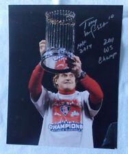 Tony LaRussa autographed 8 x 10 St. Louis Cardinals 2011 World Series photo